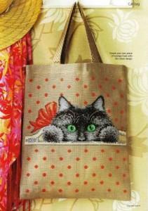 Схема Котик для сумки