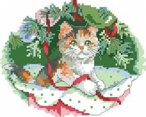 Схема Котик — украшение елки