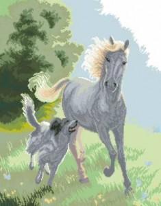 Схема Лошадь и собака