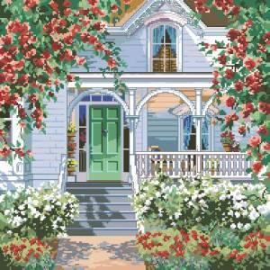 Коттедж в красных розах