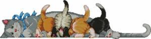 Обед. Кошка с котятами