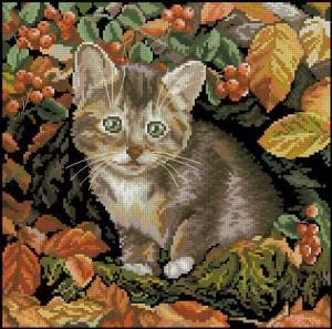 Схема Осенний котенок
