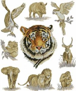 Сэмплер с тигром